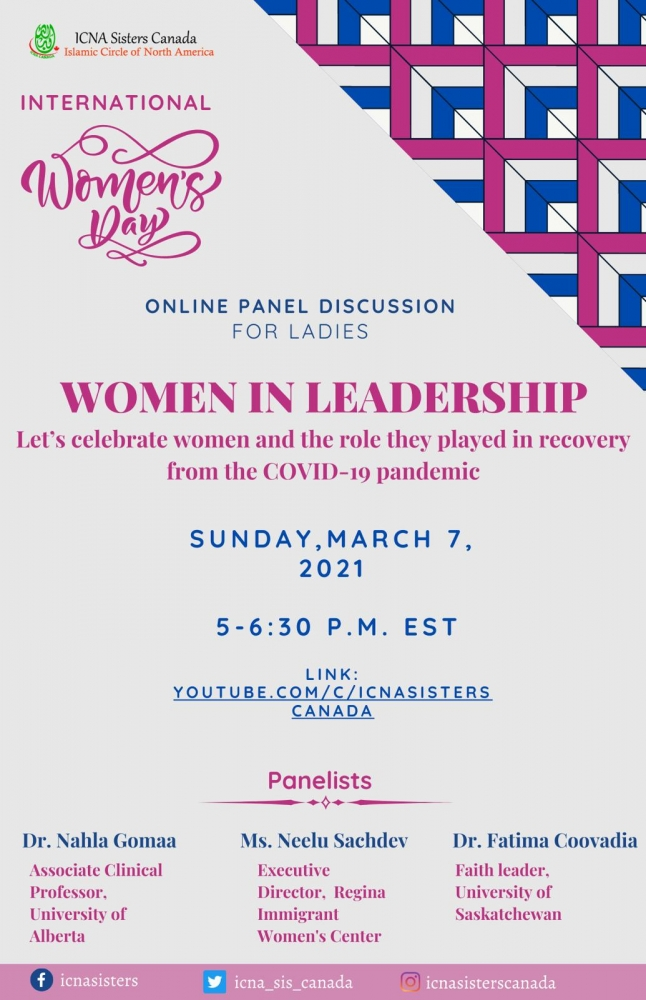 International Women's Day Online Panel Discussion - This Sunday - March 7th!