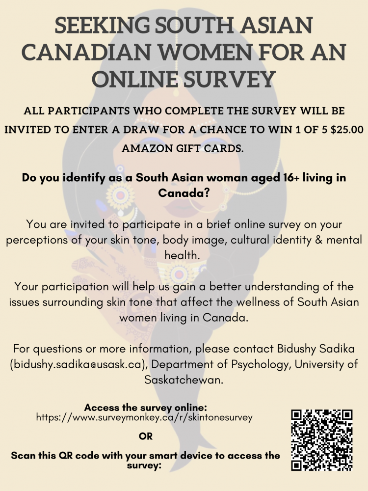Looking for South Asian Women - to complete a survey
