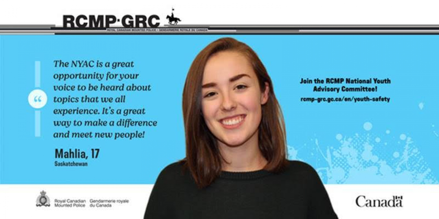 National Youth Advisory Committee for the RCMP is Recruiting.  Apply Now!