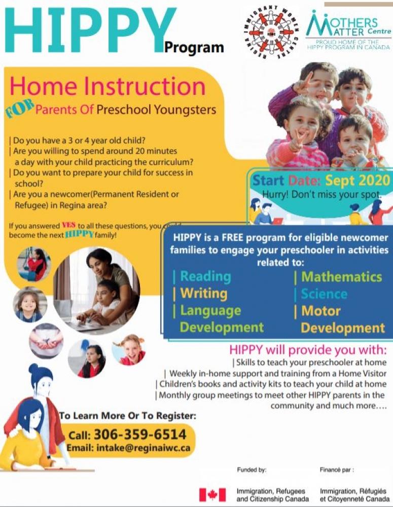 New Program for Parents of Preschool Children - HIPPY Program - Starting this Fall