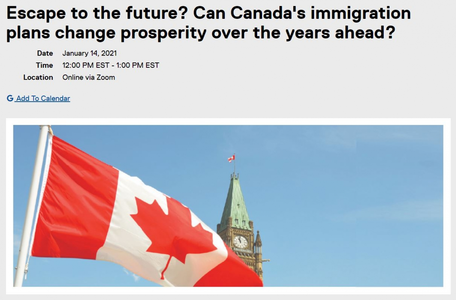 Panel Discussion About The Impact of Canada's 2021-2023 Immigration Plan - Jan. 14th