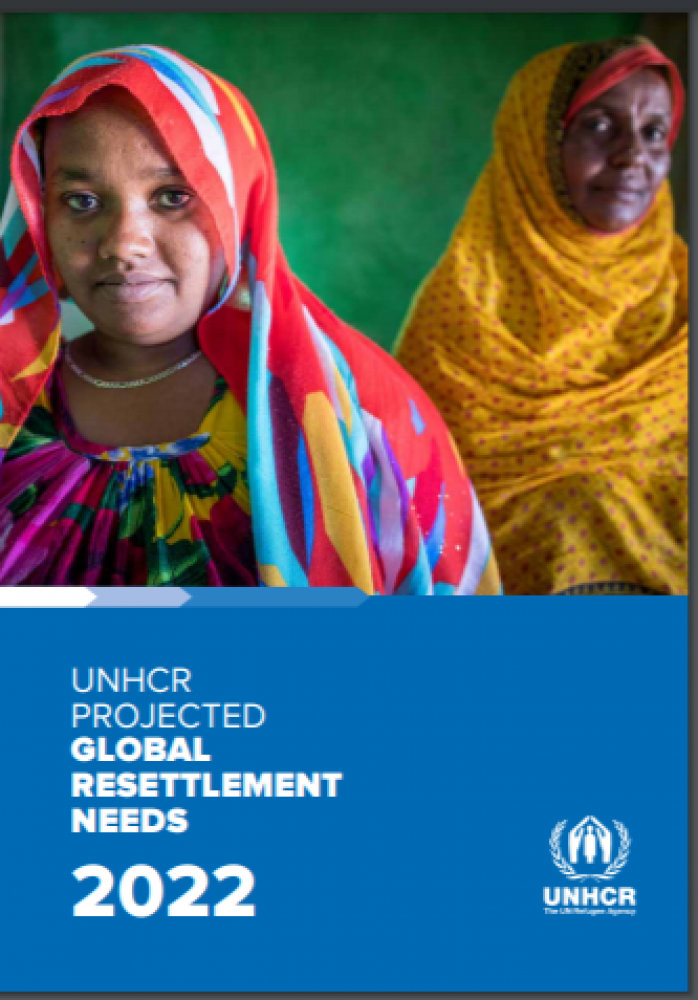 Projected Global Resettlement Needs 2022 - from UNHCR Report June 23/21