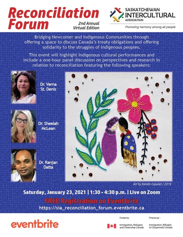 Reconciliation Forum - THIS Saturday - Jan. 23rd!