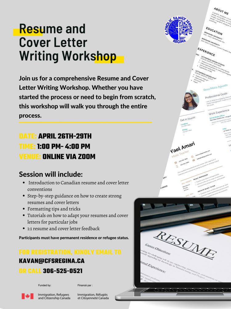 Resume and Cover Letter Writing Workshop - April 26th-29th