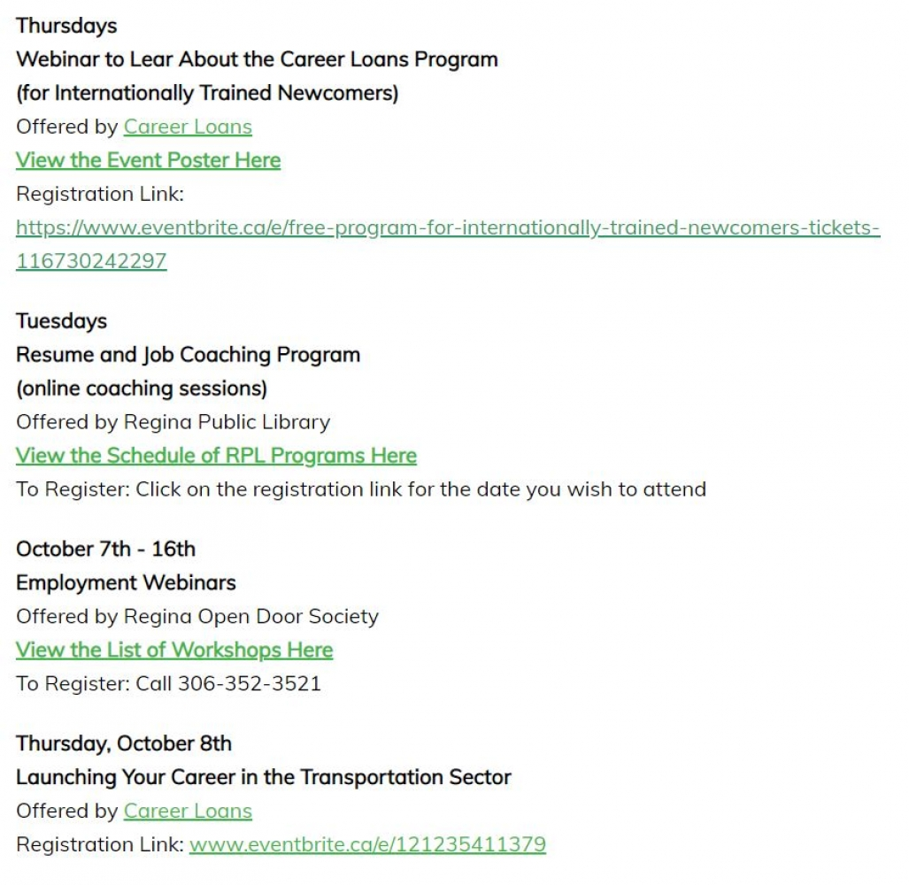 RRLIP Employment Events Page - Updated Regularly!