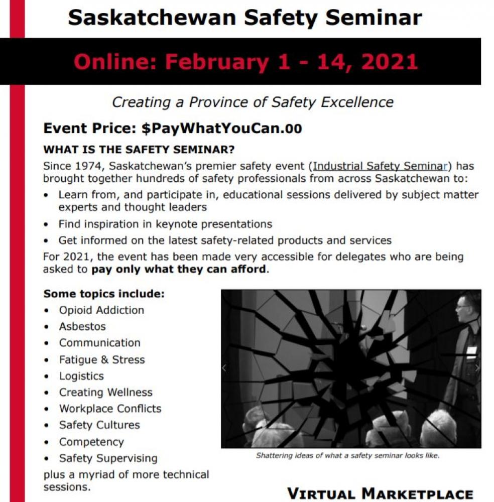 Saskatchewan Safety Council's Safety Seminar - Available Online Until Feb. 14th