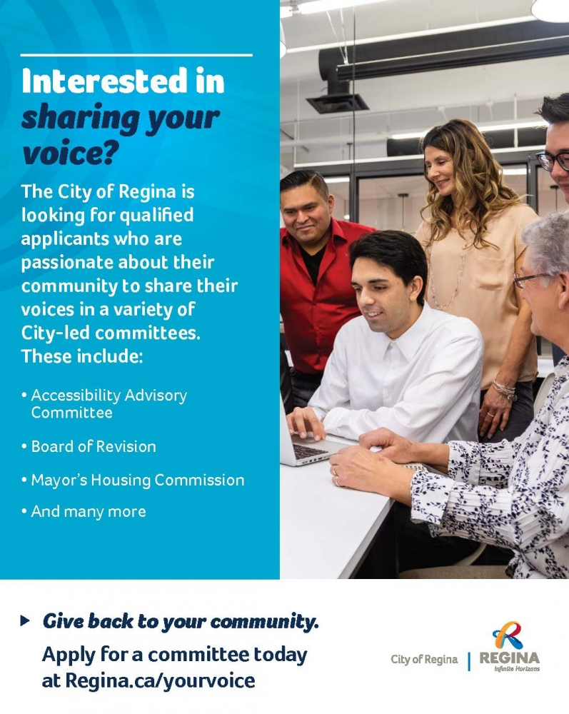 The City of Regina Invites Residents to Join their Boards and Committees