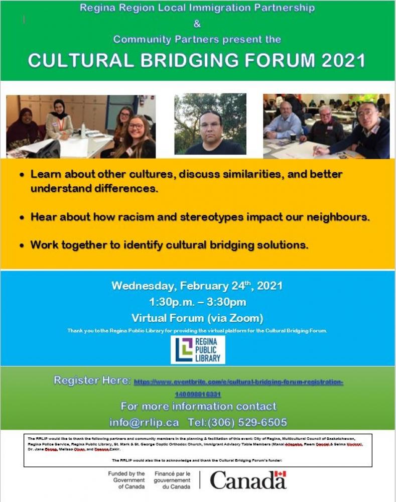 Virtual Cultural Bridging Forum - Wednesday, Feb. 24th
