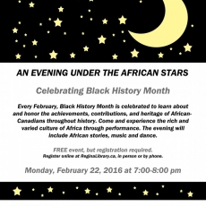 FREE!  An Evening Under the African Stars!
