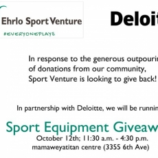 Sport Equipment for Children and Youth Giveaway - Friday, Oct 12th