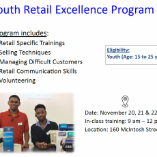Retail Work Program for Youth: November 20 - 22
