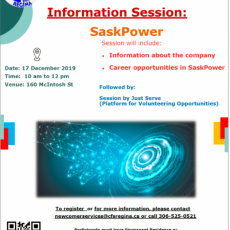 Information Session About Career Opportunities at SaskPower  - Dec. 17th
