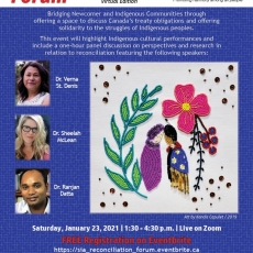 Reconciliation Forum - THIS Saturday - Jan. 23rd!