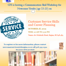 Employment-Related Workshop for Newcomer Youth - Oct. 18th