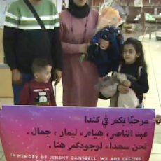 Syrian Refugee Family Reunited, Thanks to Generosity of Regina Family in Mourning