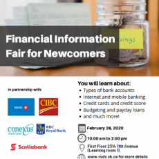 Financial Information Fair for Newcomers - Wednesday, Feb. 26, 2020