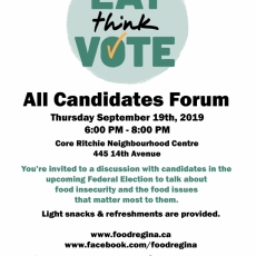 Opportunity to Discuss Food Issues with Electoral Candidates - Thursday, September 19th